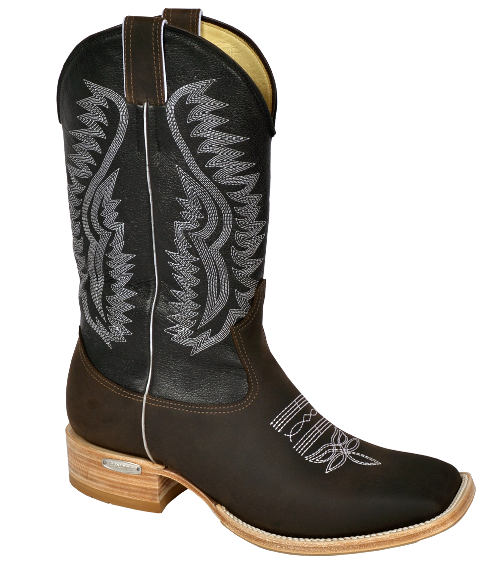 d7274cf5c Bota Texana Bico Quadrado Dark Brown TBL 717